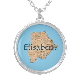 Mapa de Botswana + Collar conocido