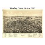 Mapa de Bowling Green Ohio 1888 Tarjetas Postales