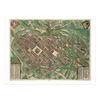 Mapa de Bratislava, de 'Civitates Orbis Terrarum Postales