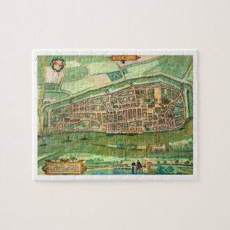 """Mapa de Bremen, de """"Civitates Orbis Terrarum"""" cerc Puzzle Con Fotos"""