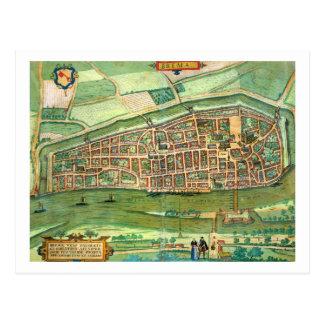 """Mapa de Bremen, de """"Civitates Orbis Terrarum"""" Tarjetas Postales"""