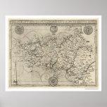 Mapa de Bretaña y de Francia por Tavernier 1594 Impresiones
