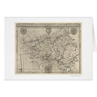 Mapa de Bretaña y de Francia por Tavernier 1594 Tarjeta De Felicitación