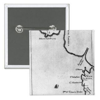Mapa de Brobdingnag Pin Cuadrada 5 Cm