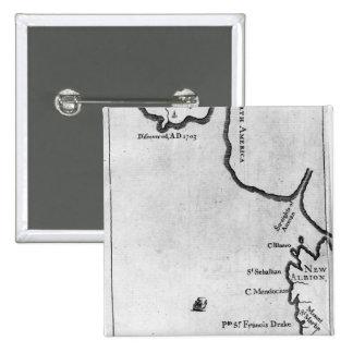 Mapa de Brobdingnag Pin Cuadrado