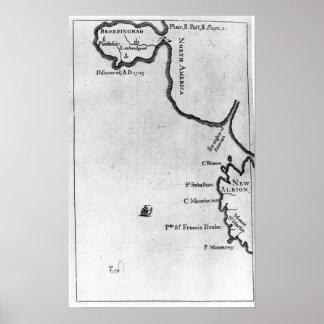 Mapa de Brobdingnag Póster