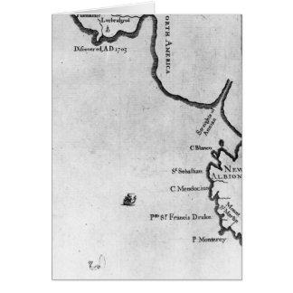 Mapa de Brobdingnag Tarjeta De Felicitación