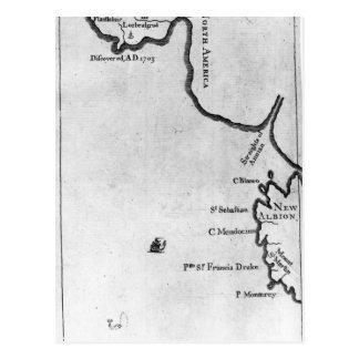 Mapa de Brobdingnag Tarjeta Postal