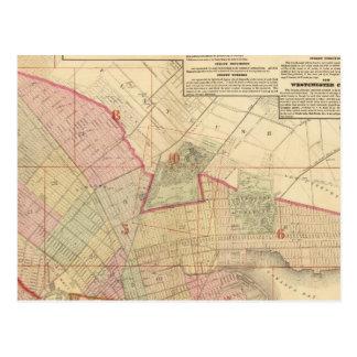 Mapa de Brooklyn del índice Postales