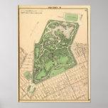 Mapa de Brooklyn del Sec 10 Póster