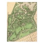 Mapa de Brooklyn del Sec 10 Tarjetas Postales