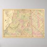 Mapa de Brooklyn del Sec 4 Póster