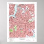 Mapa de Brooklyn, Nueva York Vintage (1969 rev 197 Impresiones