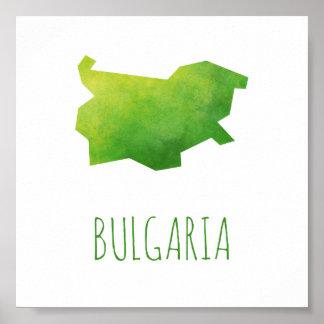 Mapa de Bulgaria Póster
