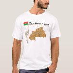 Mapa de Burkina Faso + Bandera + Camiseta del