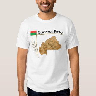 Mapa de Burkina Faso + Bandera + Camiseta del Polera