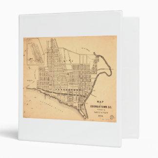 "Mapa de C.C. de Georgetown (distrito de Columbia) Carpeta 1"""