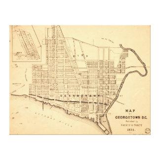 Mapa de C.C. de Georgetown (distrito de Columbia) Impresión En Lienzo