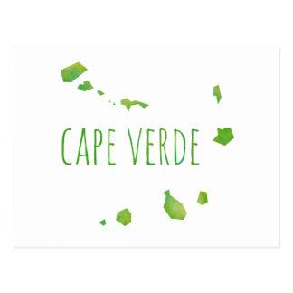 Mapa de Cabo Verde Postal