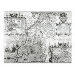 Mapa de Caernarvon, 1616 Tarjeta Postal