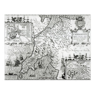 Mapa de Caernarvon, 1616 Tarjetas Postales