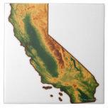 Mapa de California 2 Azulejos Ceramicos