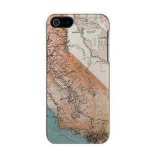 Mapa de California 2 Carcasa De Iphone 5 Incipio Feather Shine