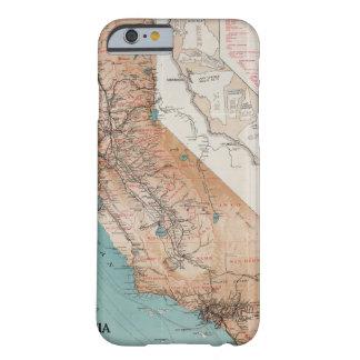 Mapa de California 2 Funda Barely There iPhone 6