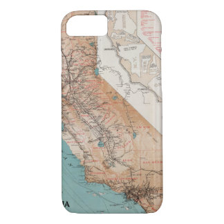 Mapa de California 2 Funda iPhone 7