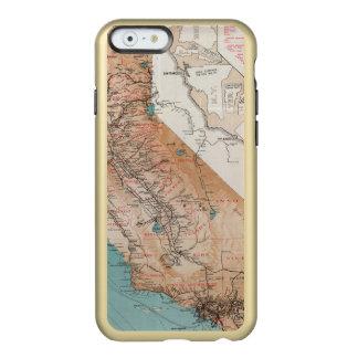 Mapa de California 2 Funda Para iPhone 6 Plus Incipio Feather Shine