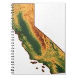 Mapa de California 2 Libreta