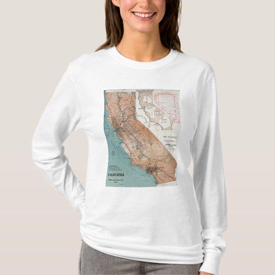Mapa de California 2 Playera