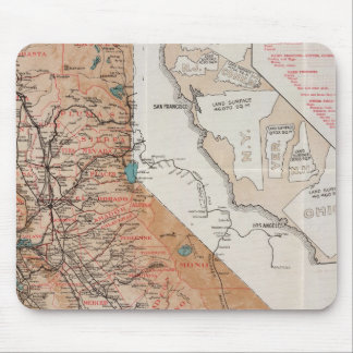 Mapa de California 2 Alfombrilla De Ratones