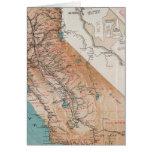 Mapa de California 2 Tarjeton