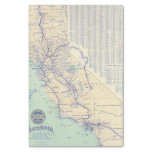 Mapa de California 4 Papel De Seda Pequeño