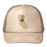 Mapa de California CA y acción divertida de la pel Gorro De Camionero