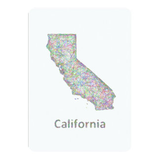 """Mapa de California Invitación 5"""" X 7"""""""
