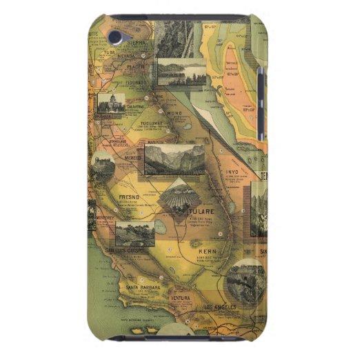 Mapa de California iPod Case-Mate Cárcasas