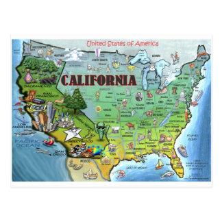 Mapa de California los E E U U