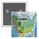 Mapa de California los E.E.U.U. Pin