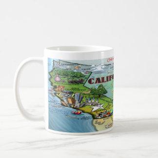 Mapa de California los E E U U Taza De Café