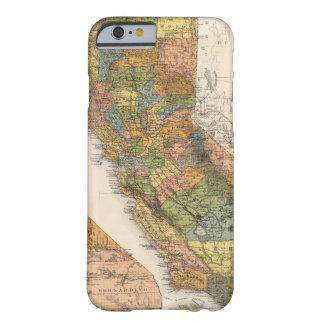 Mapa de California que muestra los municipios y Funda Barely There iPhone 6