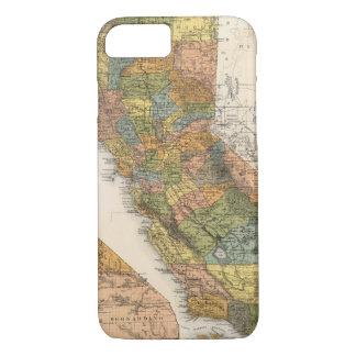 Mapa de California que muestra los municipios y Funda iPhone 7