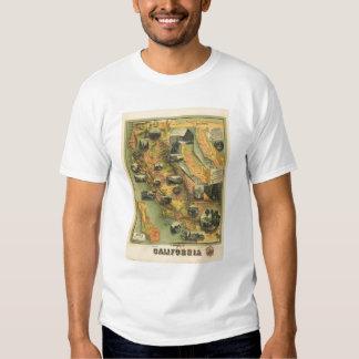 Mapa de California Remeras