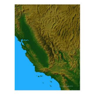 Mapa de California y de Nevada 2 Postal