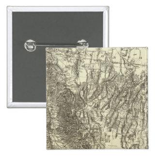 Mapa de California y de Nevada Pin
