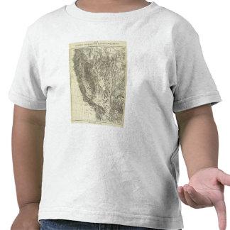 Mapa de California y de Nevada Camiseta