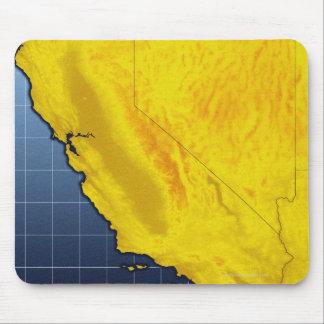 Mapa de California y de Nevada Alfombrillas De Ratones
