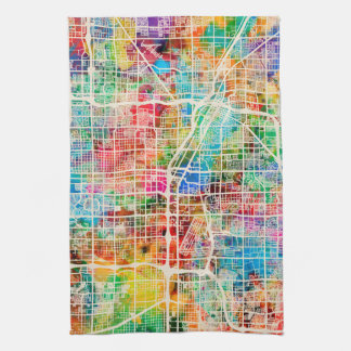 Mapa de calle de la ciudad de Las Vegas Toalla