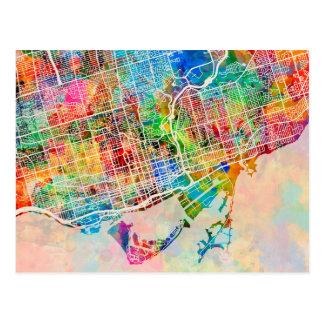 Mapa de calle de la ciudad de Toronto Tarjeta Postal